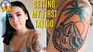 Getting My FIRST Tattoo + experience, meaning, pain