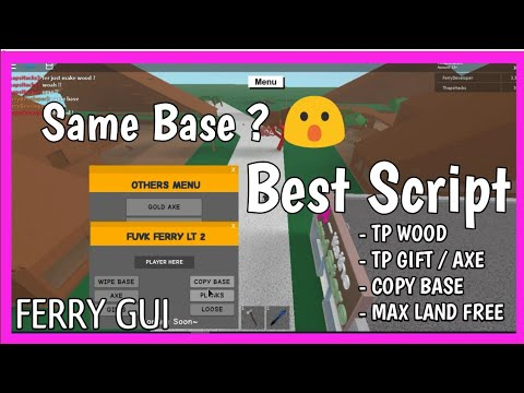 [NEW] LUMBER TYCOON 2 FERRY GUI 😮 BEST SCRIPT [✔️] TP WOOD , COPY BASE ,  [⚡]PAINT TOOLS & MORE !