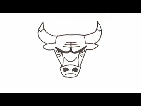 How to Draw the Chicago Bulls Logo