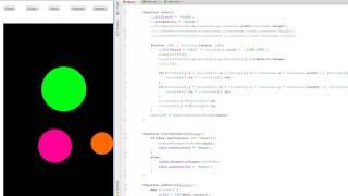JavaScript Tutorial HTML5 Canvas Add velocity controls hit & reflect animation part 55