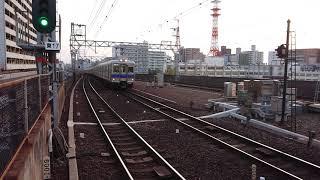 南海 新今宮駅 2番のりば 6000系(6029+6031+6019編成) 準急なんば行 停車