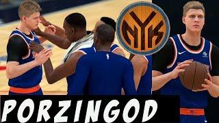 NBA 2K18 Knicks MyGM Y2 | Porzingis Cannot Be Stopped In Washington | Playoffs Rd.1