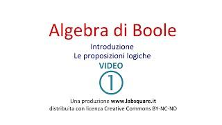 Algebra di Boole - video 01
