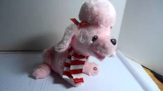Animated Emmy Singing Plush Pink Poodle Dog Demi Lovato Give Your Heart A Break
