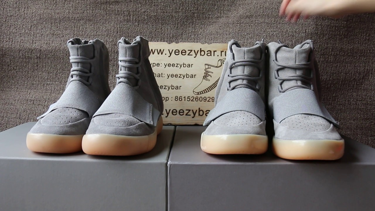 Adidas Yeezy 750 Boost Light Grey REAL VS FAKE