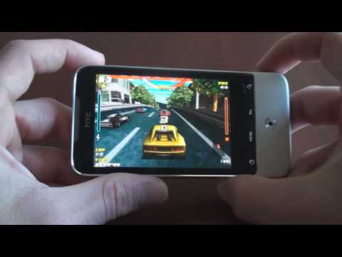 Racing Game Demo on HTC Legend