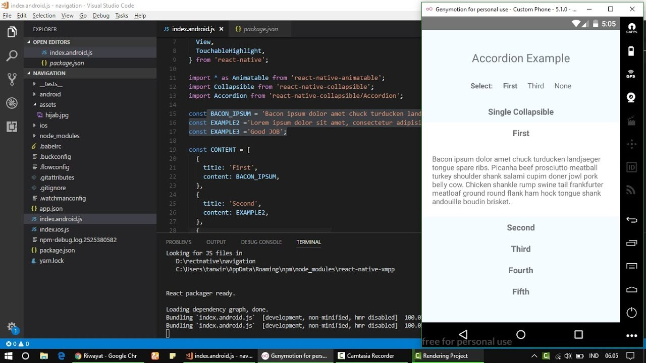 React Native - How to make Collapsible android and IOS