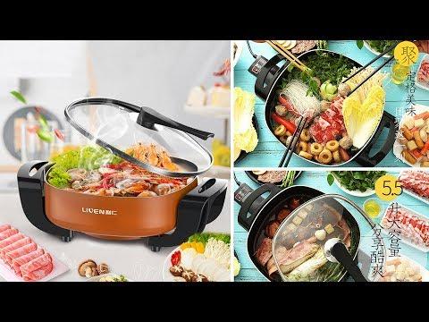 Korean 5.5L Multi-functional Non-stick Electric Skillet / Steamer / Hot Pot