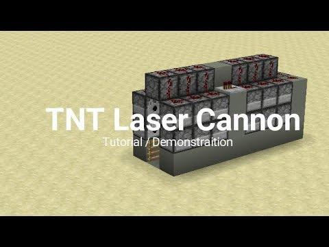 TNT Laser Cannon! New Redstone Cannon Tutorial!