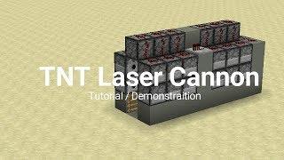 TNT Laser Cannon! Nęw Redstone Cannon Tutorial!