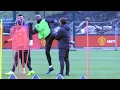 Manchester United Squad Train Ahead Of Their Europa League Away Match Against St Etienne video & mp3