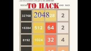 Hack - 2048 Android Game For Unlimited Scores!