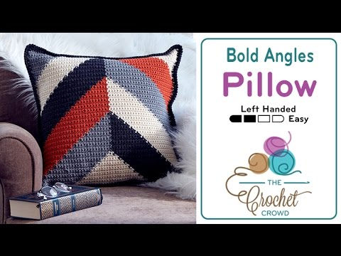 How to Crochet A Pillow: Bold Angles