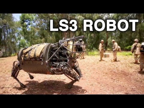 LS3 Robot Patrols With Marines, Comes Under Simulated Mortar Attack