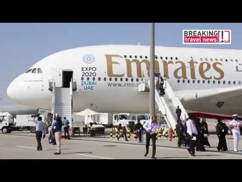 Etihad, Qatar and Emirates display Airbus A380's at the Dubai Airshow 2015