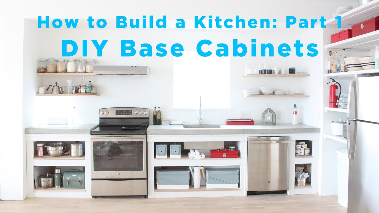 The total diy kitchen part 1 base cabinets youtube for Diy kitchen cabinets