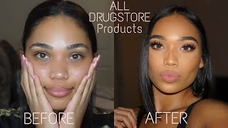 EASY DRUGSTORE MAKEUP TUTORIAL | Briana Monique'