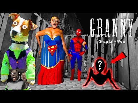 Гренни это Супер Женщина и Человек Паук ► Granny: Chapter Two (Супергерои)