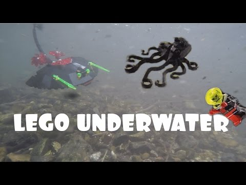 LEGO IN A RIVER - GO PRO ACTION (Alpha Team 4788 2002 Set)