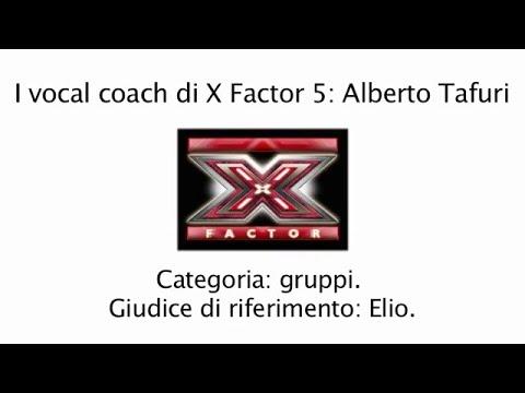 I vocal coach di X Factor 5: Alberto Tafuri.