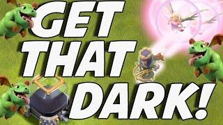 Clash Of Clans | Baby Dragon + Super WIPE | Dark Elixir Farming Strategy