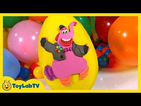 GIANT Bing Bong Play Doh Surprise Egg with SpongeBob Surprise Egg & Disney Inside Out Toys