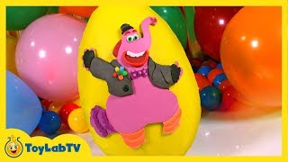 GIANT Bing Bong Play Doh Surprise Egg with SpongeBob Surprise Egg & Disney Inside Out Toys