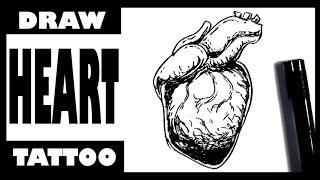 Amazing - Drawing a Heart Tattoo - Draw Tattoo Art