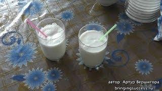 Как приготовить молочный коктейль по рецепту, который используют в кафе, барах и ресторанах(Готовим дома вкусный молочный коктейль в блендере по рецепту, который используют в кафе, барах, ресторанах,..., 2013-10-14T09:31:49.000Z)