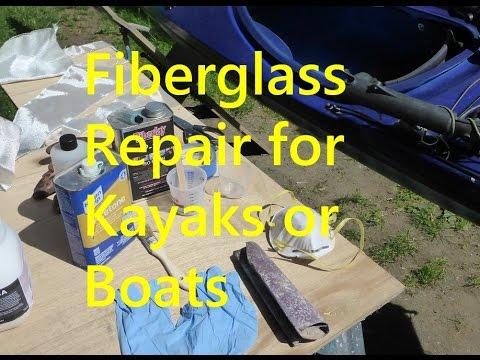 Fiberglass Repair for Kayaks or Boats