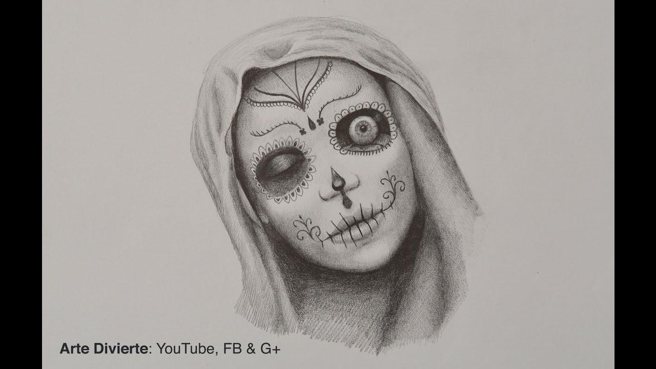 Cómo Dibujar Una Catrina Especial De Día De Muertos Youtube