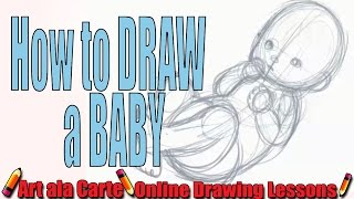 Drawing cute little BABIES: a basic baby form