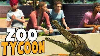 CROCODILE TRIES TO EAT PARK GUEST! - Zoo Tycoon Ultimate Animal Collection Gameplay
