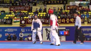 7th Korea Open Taekwondo Championships Semi-Final Male Senior 1 -58Kg Kang vs Kim