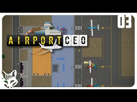 Making a Profit From Commercial Airline Contracts! Let's Play Airport CEO Gameplay Part 3