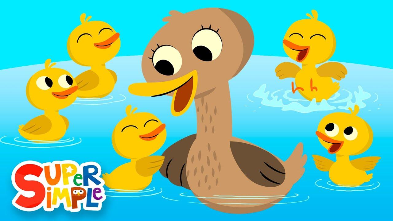 Five Little Ducks   Kids Songs   Super Simple Songs
