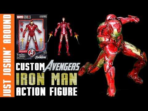 DIY Custom Avengers Iron Man Makeover // Custom Collectible Action Figure // Just Joshin' Around