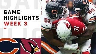 Bears vs. Cardinals Week 3 Highlights | NFL 2018