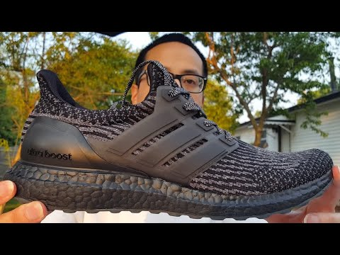 09c078e3 StockX Under Retail Steal! Fav Triple Black Colorway! Adidas Ultra Boost  3.0 Black/Silver Review!