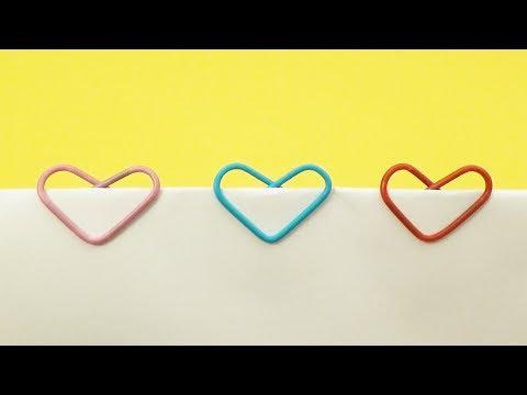 Как сделать сердце из скрепки. Красивая закладка своими руками