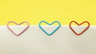 закладка из скрепки в виде сердца своими руками