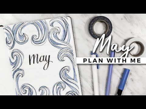 PLAN WITH ME | May 2017 Bullet Journal Setup