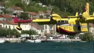 CL-415 Water Bomber near Komin, Neretva, Croatia