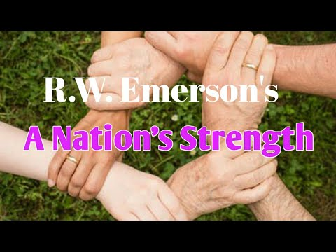 R. W. Emerson's A Nation's Strength-P.J.Manilal