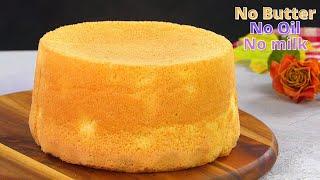 Oil free 3 ingredients Super soft Italian Sponge cake recipe by Tiffin Box  Easy tea time cake