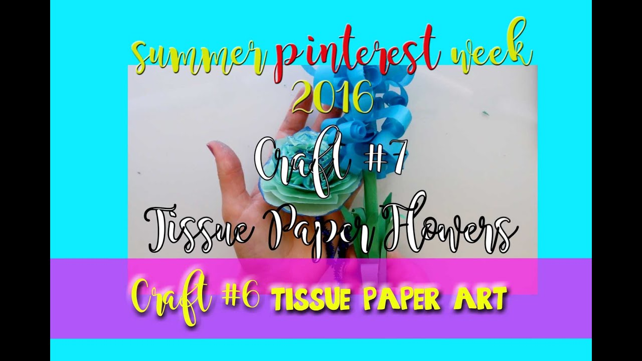 Tissue Paper Flowers A Fun Pinterest Craft Dramaticparrot Youtube