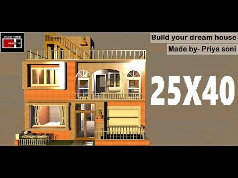 25X40 house with shop made by priya soni on build your dream house