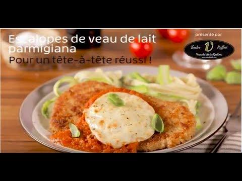 escalopes-de-veau-de-lait-du-québec-parmigiana,-pancetta-et-sauce-aux-tomates-confites