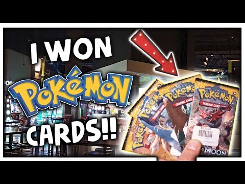 Winning Pokemon Cards At Main Event Arcade & New Arcade Games! ArcadeJackpotPro
