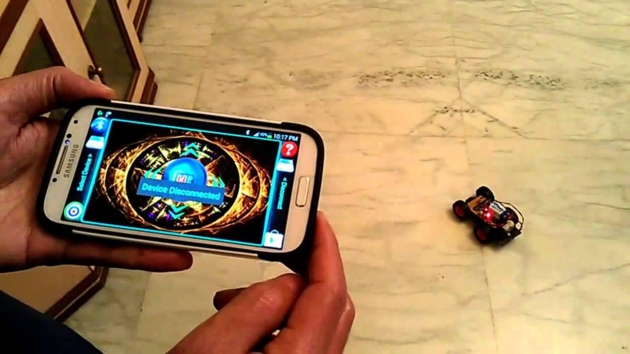 Tilt Control Robot Robotic Car Project Using Android Phone